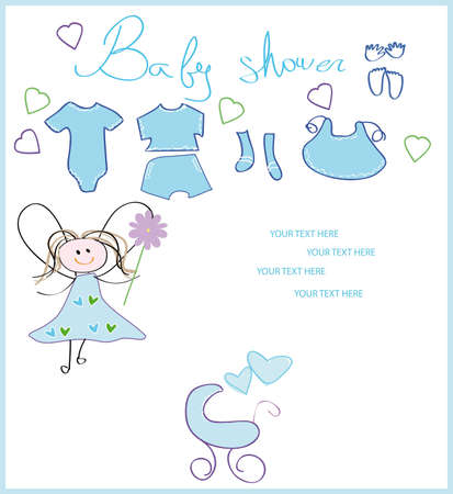 baby shower. new born card  Illustration