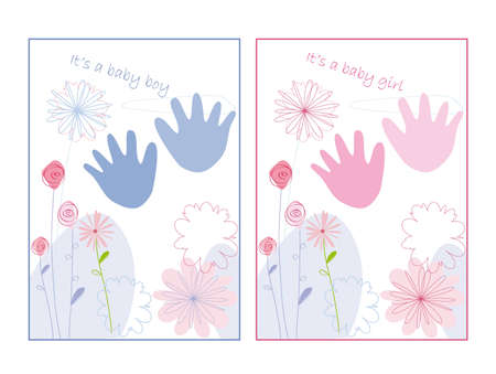 new born baby girl: Baby announcement card