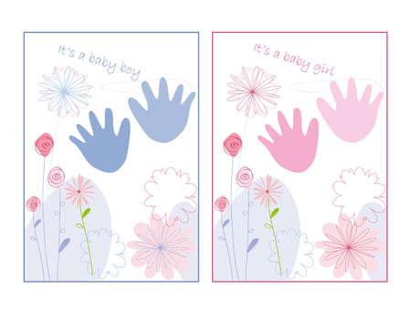 Carte d'annonce de bébé