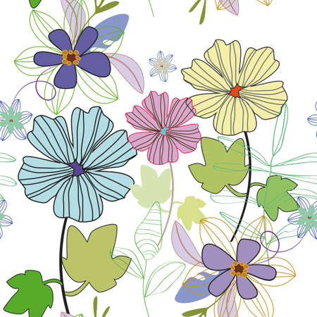 forrest: pattern with flowers
