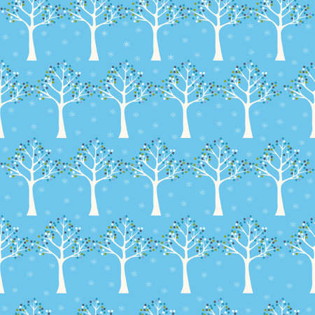 Seamless pattern . Winter seamless pattern with tree  Vector