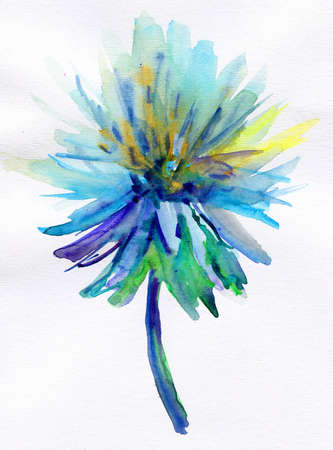 art flower: blue flower