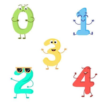 Set of funny characters from numbers.