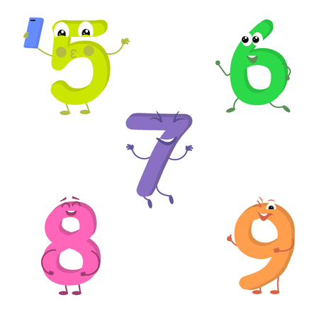 eight legs: Set of funny characters from numbers 2.