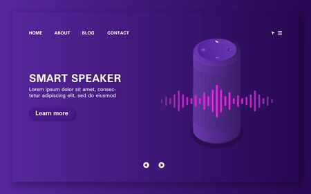 Loading page of smart voice assistant with sound wave.