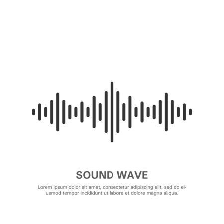 Illustration of an isolated sound wave on a white background 5. Stok Fotoğraf - 131991428