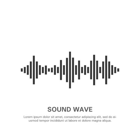 Illustration of an isolated sound wave on a white background 7.