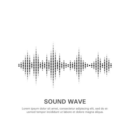 Illustration of an isolated sound wave on a white background 8. Flat vector graphics. Stock Illustratie
