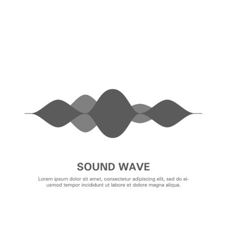 Illustration of an isolated sound wave on a white background 14. Çizim