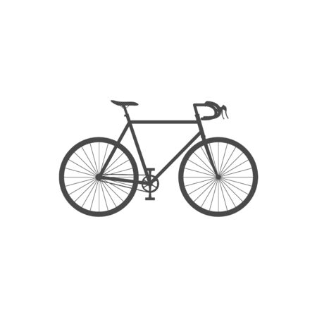 Road bike isolated simple icon on white background. Flat vector illustration.