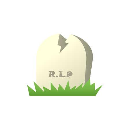 Headstone isolated icon on white background.