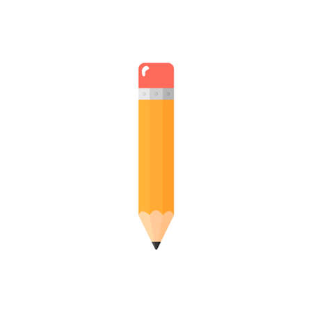 Isolated pencil icon on white background.