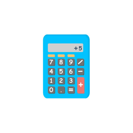 Calculator icon isolated on white background.