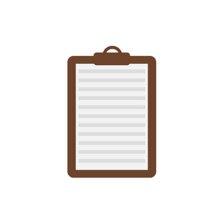 Isolated paper tablet icon on white background. 向量圖像