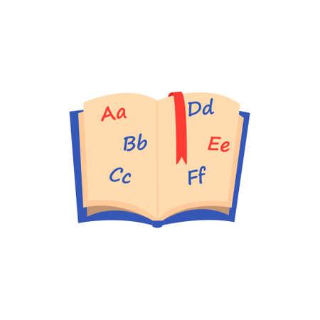 Isolated alphabet icon on white background. 向量圖像