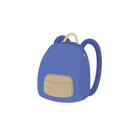 School backpack isolated icon on white background.