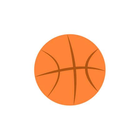 Isolated basketball ball icon on white background. 向量圖像