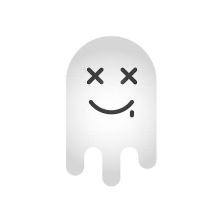 Funny ghost isolated on white background.