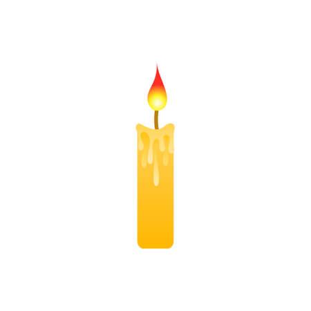 Candle isolated icon on white background.