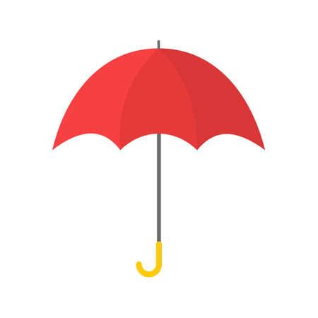 Red umbrella isolated on white background. 向量圖像