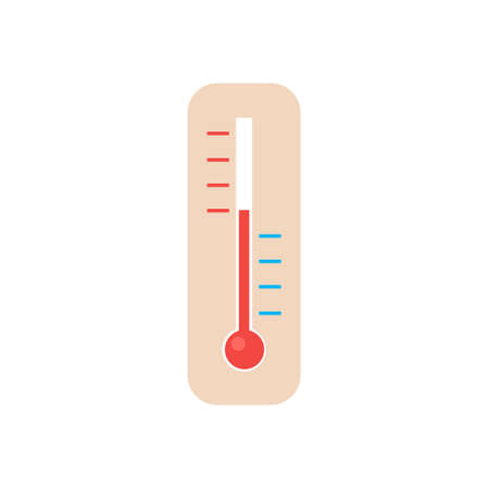Thermometer isolated on a white background. 向量圖像