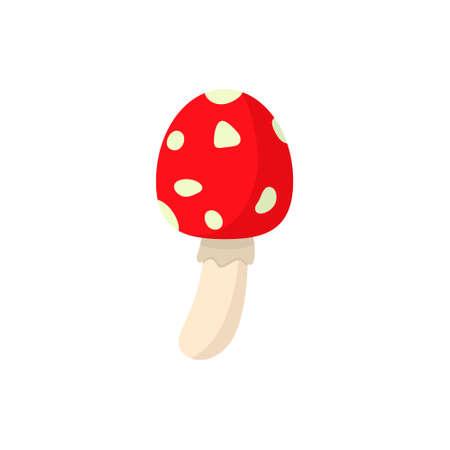 Amanita mushroom isolated on white background. 向量圖像