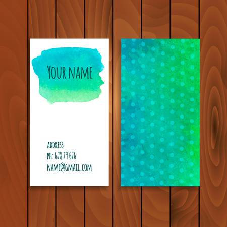 splutter: Two watercolor cards template Illustration