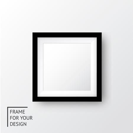 marco madera: Realista marco de imagen