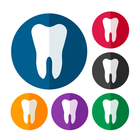 mouth pain: Tooth icon set
