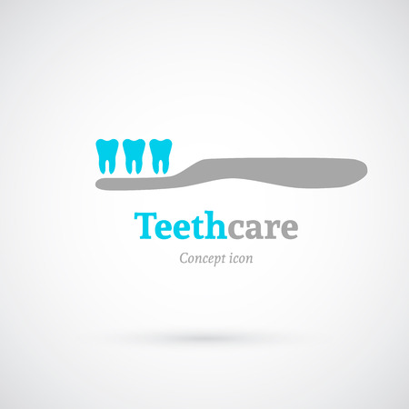 to care: Tooth care concept icon
