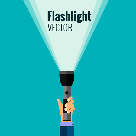 flashlight: Flat flashlight