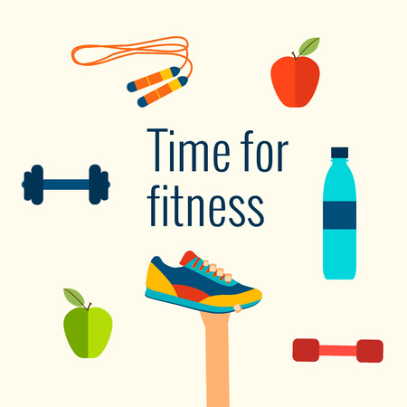 regime: Fitness concept flat Isolated vector illustration and modern design element