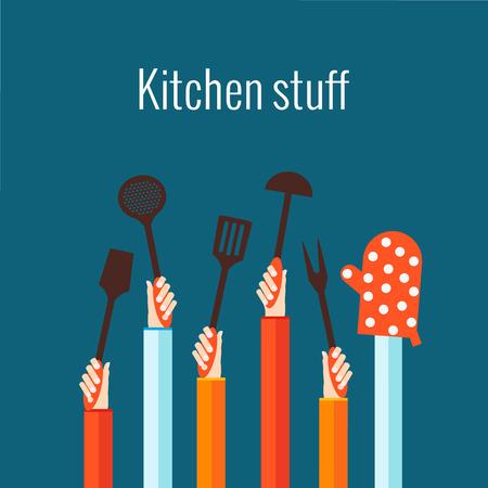 Flat concept voor koken