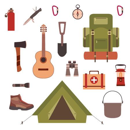 Camping concept  イラスト・ベクター素材