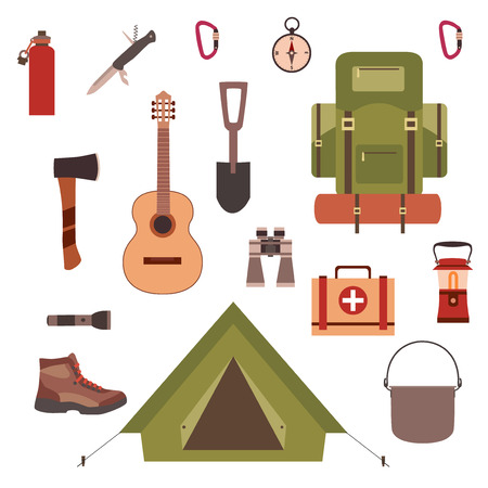 pocket knife: Camping concept Illustration