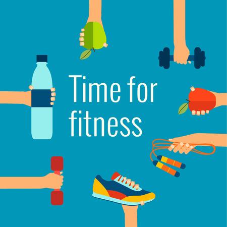 Fitness concept  イラスト・ベクター素材