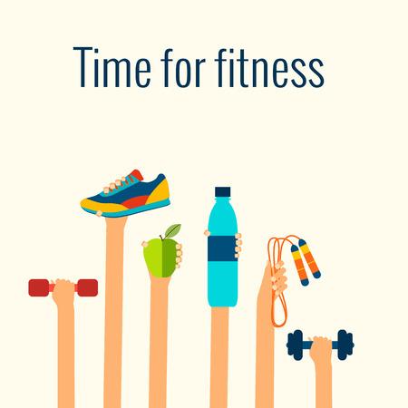 fitness: Conceito da aptidão Ilustração