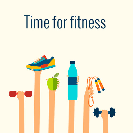 workout: Fitness concept Illustration