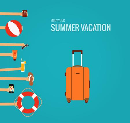 zomer reizen Stock Illustratie