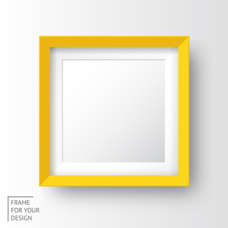 Realistic picture frame made in vector eps 10