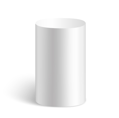 pillar box: White cylinder made in vector
