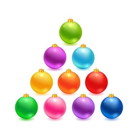 blue ball: Christmas balls set. realistic colorful balls made in vector.