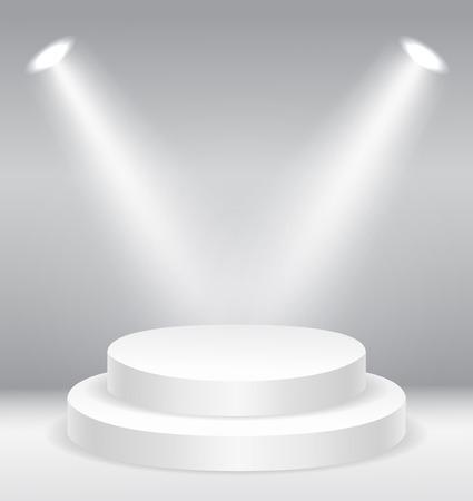 Illuminated round stage podium  vector illustration 版權商用圖片 - 48127498
