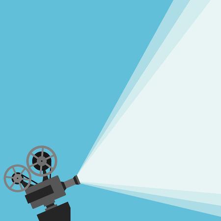 Projecteur de film rétro avec différentes bobines de films réalisés dans le vecteur Banque d'images - 49723821