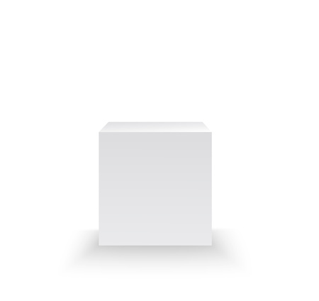 Pedestal isolated on white background. Vector illustration  イラスト・ベクター素材