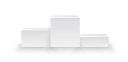 verlichte winnaars podium geïsoleerd op een grijze achtergrond gemaakt in vector Stock Illustratie