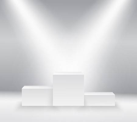 Winners podium, pedestal isolated on white background. Vector illustration Vectores
