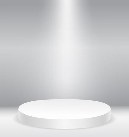 Illuminated round stage podium vector illustration eps10