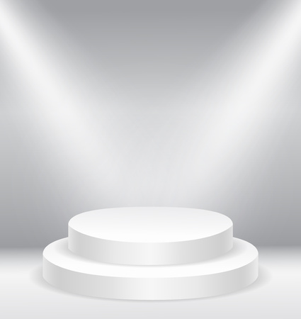 podium: Illuminated round stage podium vector illustration eps10