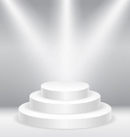illuminated: Illuminated round stage podium vector illustration eps10